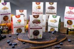 Biscuiți Vegani Ciocolată și Vișine – 150g