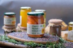 Compot din piersici ecologice – 580g