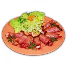 Piept de pui in bacon