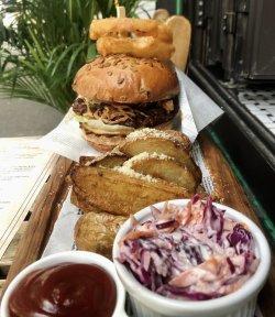 Chilli pulled pork burger image