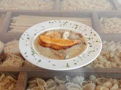 Supă cremă de ciuperci + crutoane image