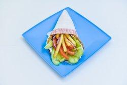 Gyros vegetarian pită image