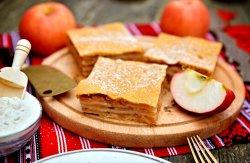Plăcintă de casă cu mere (produs de post) image
