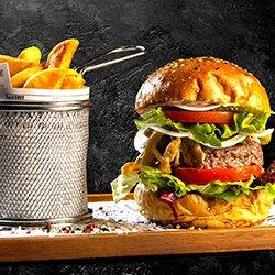 trickSHOT Burger și cartofi prăjiți  image