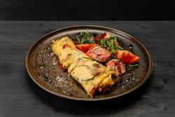 Vegetable omelet image