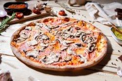 Pizza 1+1 - Prosciutto e funghi image