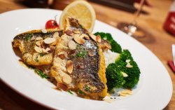 Sea bass almondine  image