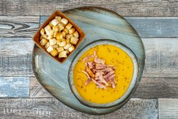 Supă crema de cartofi cu bacon crocant image