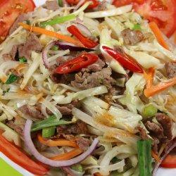 Hủ tiếu trộn/ Noodles Phở la tigaie, cu carne de vită image