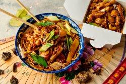 Noodles + Porc cu urechi de lemn image