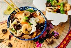 Noodles + Creveți Jumbo Chop Souy image