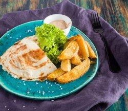 Quesadilla de pui cu cartofi blanșați image