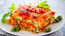 Lasagna cu spanac brânză feta și ciuperci