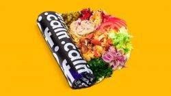 Kebab de pui cu salată de vinete în lipie image