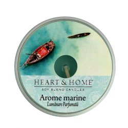 Lumanare parfumata - Heart & Home, Mediteranean sea salt