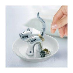 Suport bijuterii - Cat Ceramic Silver