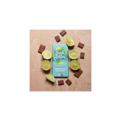 Ciocolata cu lapte cu sare de mare din Cornwall si limeta Bio