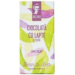 Ciocolata cu lapte artizanala cu cacao si fistic - Razvan