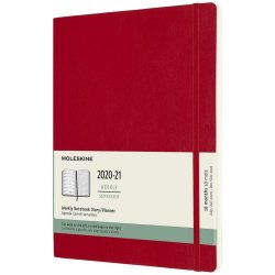Agenda 2020-2021 - Moleskine 18-Month Weekly Notebook Planner - Scarlet Red, X-Large, Soft Cover