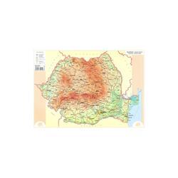 Plansa harta Romania A3 fata/verso