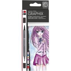 Set 6 carioci - Aqua Pen Graphix - Make Manga