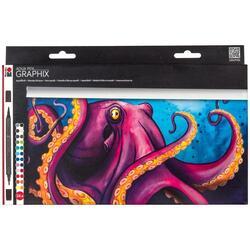 Set 24 carioci - Aqua Pen Graphix - Octopy