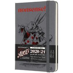 Agenda 2020-2021 - Alice's Adventures in Wonderland - Moleskine 18-Month Weekly Planner - Rabbit Theme, Pocket, Hard Cover