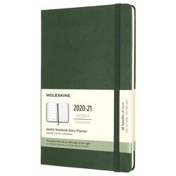 Agenda 2020-2021 - Moleskine 18-Month Weekly Notebook Planner - Green, Large, Hard Cover