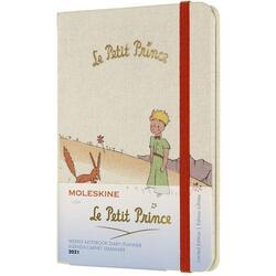 Agenda 2021 - Moleskine 12-Month Weekly Notebook Planner - Le Petit Prince - Fox, Hardcover Pocket