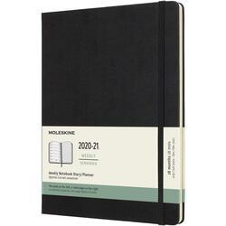 Agenda 2020-2021 - Moleskine 18-Month Weekly Notebook Planner - Black, X-Large, Hard Cover