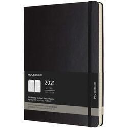 Agenda 2021 - Moleskine 12-Month PRO Weekly Vertical Planner - Black, Hardcover XL
