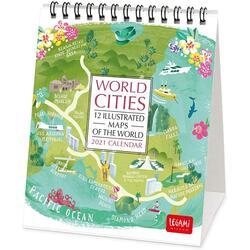 Calendar 2021 - World Cities, 12x14.5 cm