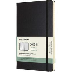 Agenda 2020-2021 - Moleskine 18-Month Weekly Notebook Planner - Black, Large, Hard Cover