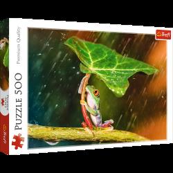 Puzzle 500 piese - Umbreala verde