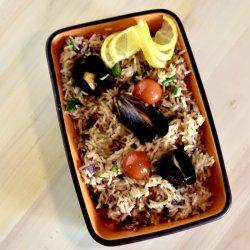 OREZ CU FRUCTE DE MARE (Asian seafood)  image
