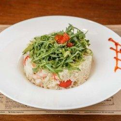Creveți cu orez și gorgonzola