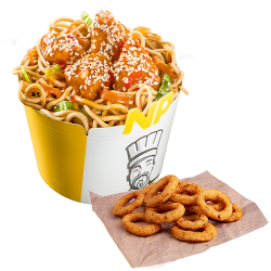 Noodle Pack Orange Chicken cu Snack Onion Rings   image