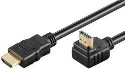 Cablu HDMI2.0 cu ethernet 19p tată - HDMI 19p tată 90° aurit OFC 1m