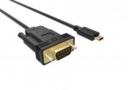 Cablu USB-C la VGA FullHD 60Hz 1.8m