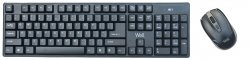 Kit tastatură+mouse wireless Well CW101BK negru