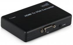 Convertor HDMI -> VGA+Stereo FullHD Well