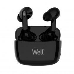 Căști Bluetooth TWS in-ear Well Boost negru image
