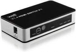 Switch HDMI 3 intrări 4K V1.4 cu telecomandă Well
