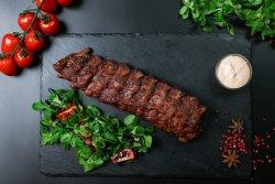 Coaste de porc la cuptor cu sos white barbeque image