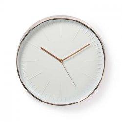 Ceas de perete alb/roz 30 cm Nedis