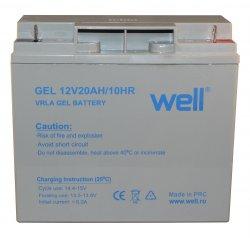 Acumulator plumb acid cu gel 12V 20Ah Well