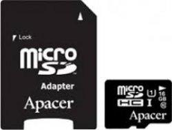 Card microSDHC UHS-I 16GB clasa10 cu adaptor SD, Apacer