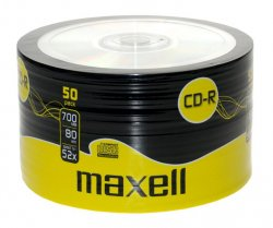 CD-R 700MB, 52x, 50 buc pe folie, Maxell