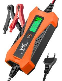 Redresor baterie auto Well 6V 2A, 12V 4A