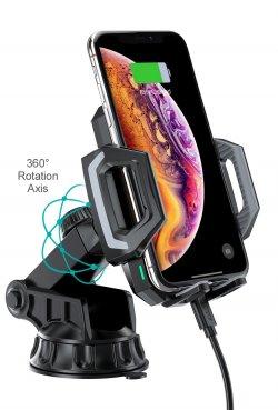 Suport telefon cu ventuza si incarcare wireless Choetech T521-S, 10W / 7.5W / 5W